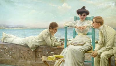 Corcos, Vittorio, In lettura sul mare, 1910-3
